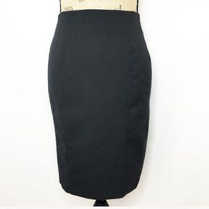 NWOT Express Black Seamed Pencil Skirt